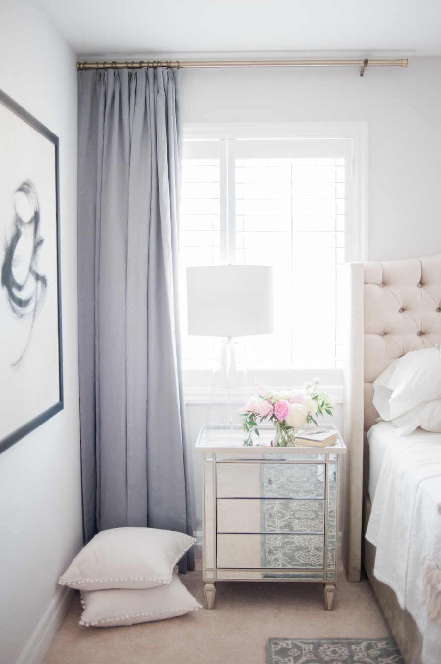 Suburban Faux Pas' Master Bedroom Reveal | lark & linen on Master Bedroom Curtains  id=55365