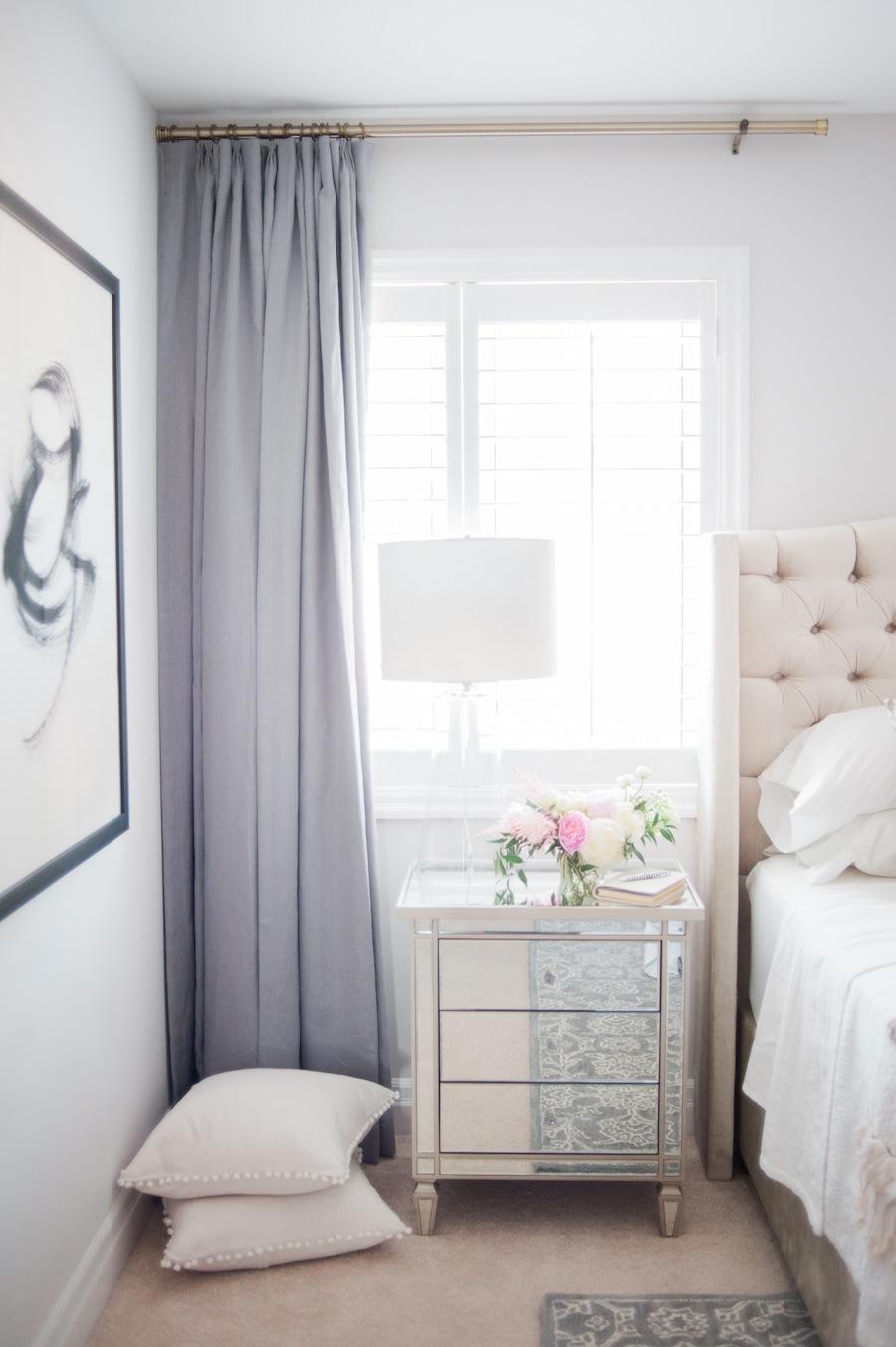 Suburban Faux Pas' Master Bedroom Reveal | lark & linen on Master Bedroom Curtain Ideas  id=48591