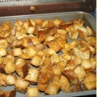 homemade Crouton recipe Jacquelynne Steves