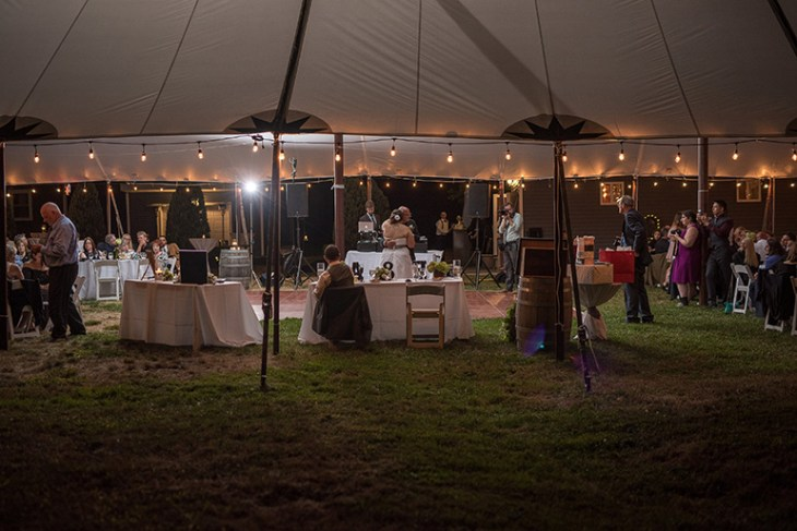 Wedding with Sail Tent and String Lights