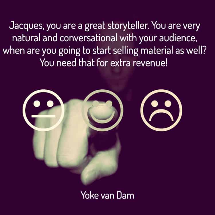 Story teller, Jacques de Villiers holds a conversation