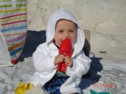 Félix à  la plage.