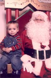 Félix chez la Père Noël en 2006.