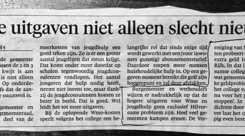 Verzin een list, net als in Hilversum, om de bezuinigingen terug te draaien.