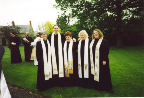 St .......College Ordinands with stoles by Jacquie Binns