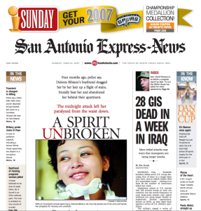 San Antonio Express News Spurs Front Page created and designed by JA Creative Group
