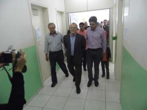 Tarso Genro visita obras em Jacuizinho durante a Expojac