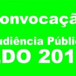 LEI DE DIRETRIZES ORÇAMENTÁRIAS: Prefeitura realizará audiência pública na sexta, dia 11.