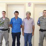 POLICIAMENTO OSTENCISO: Prefeito Volmir e Vice Ricardo realizam reunião com Comandantes do 16º BPM