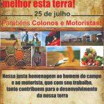 COLONO E MOTORISTA: Mensagem da Administração Municipal