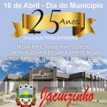 PARABENS: Neste dia, comemoramos 25 anos de emancipação politico e administrativa!