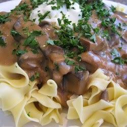Pasta – Portobello Mushroom Stroganoff