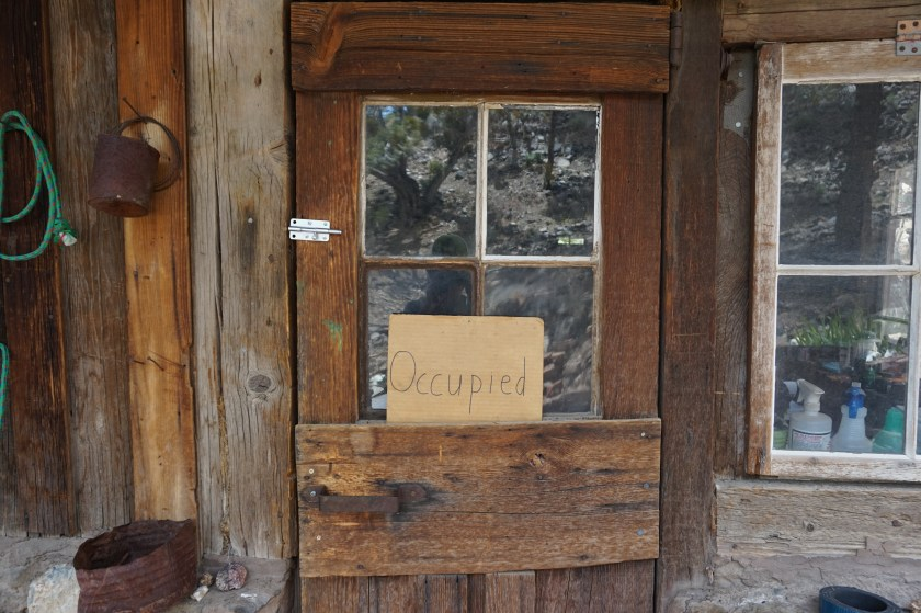 """How to """"book"""" Castle Cabin: flip the sign from Unoccupied to Occupied!"""