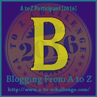 A to Z Challenge:  B is for BLURB
