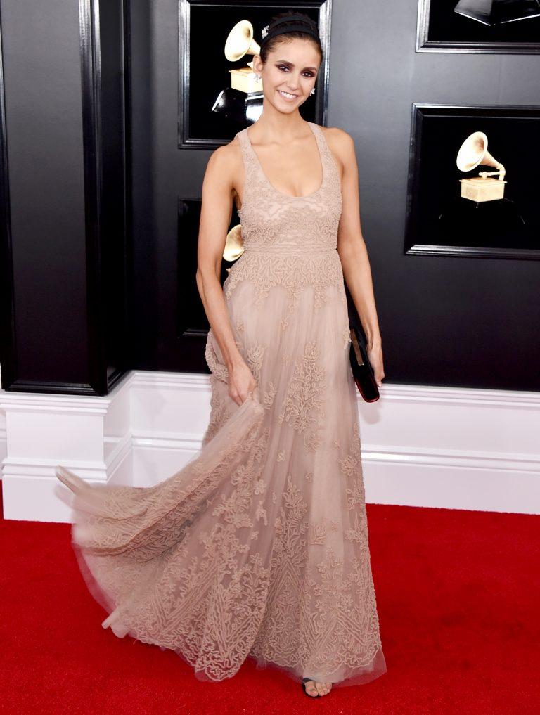 Grammy 2019: Meus looks favoritos dos famosos no tapete vermelho Nina Dobrev