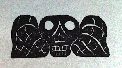 winged skull stamp