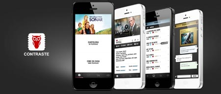 Contraste App, Tv, cine, videojuegos e Internet