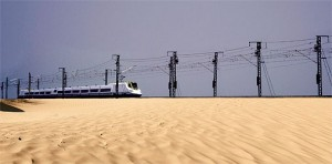 Tren en el desierto