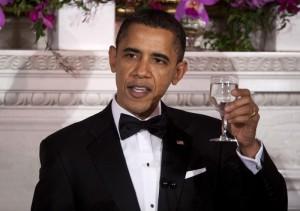 Presidente Barak Obama, cena con gobernadores