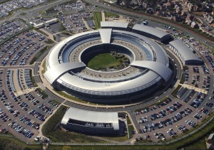 "Imagen aerea del "" Government Communications Headquarters (GCHQ) in Cheltenham, Gloucestershire."