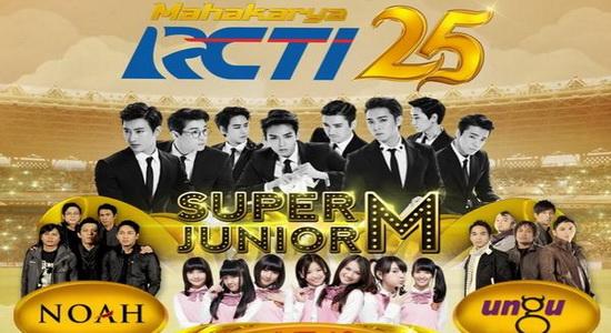 Super Junior M Meriahkan HUT Ke-25 RCTI - Jadwal TV