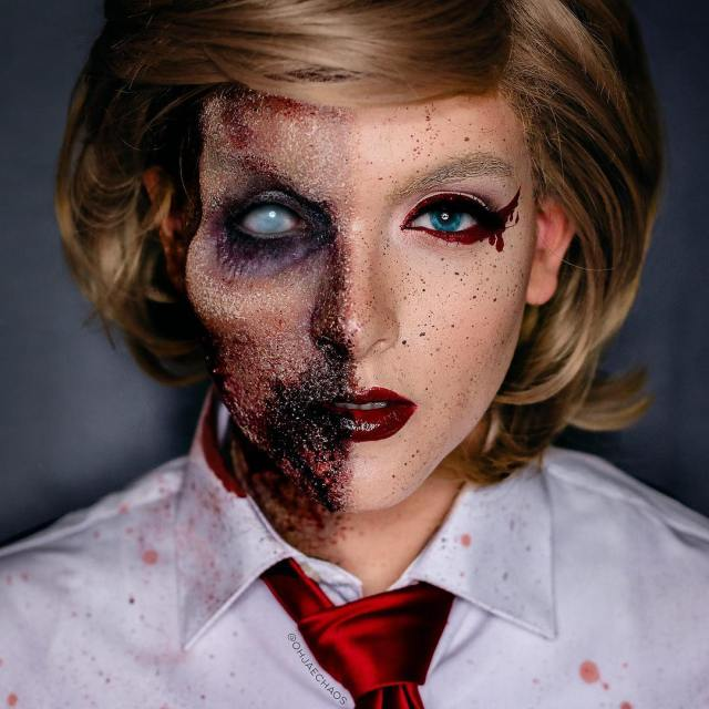 Youve got red on you Half fem!Shaun half zombie forhellip