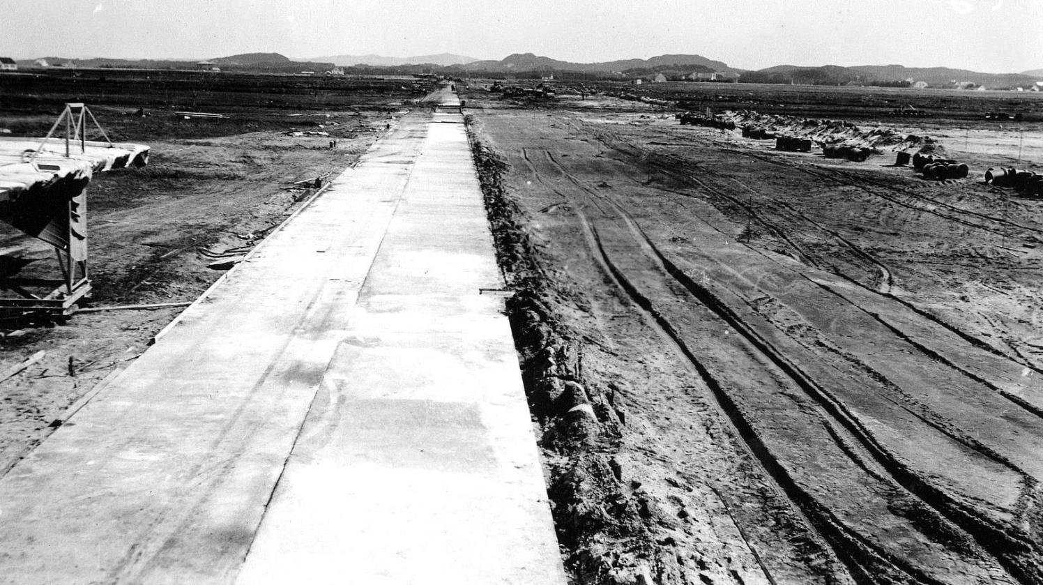 Bane A, 2 striper betong