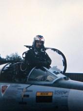 I syv år fløy Bjørn Nybø fløy F-104G Starfighter i 331 skvadron i Bodø. Foto via Bjørn Nybø