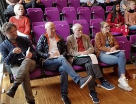 Ein jury med solide kvalifikasjonar. Frå venstre: Stian Ravndal, Njål Spanne, Jan Kristian Hognestad og Margrethe Sønneland.