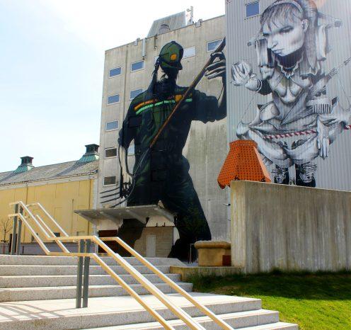 Street-art ved Pøbel og Claudio Ethos.