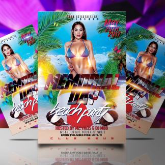Memorial Day Party Flyer Template