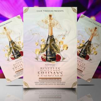 Poppin Bottles Friday Flyer Template