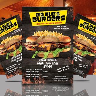 Big Bub's Burgers Flyer Template