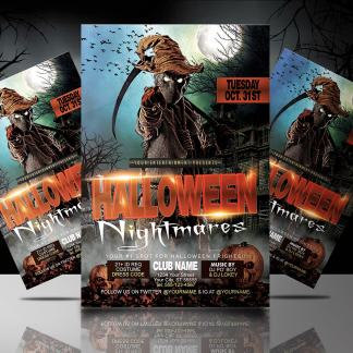 Nightmares Party Flyer Template