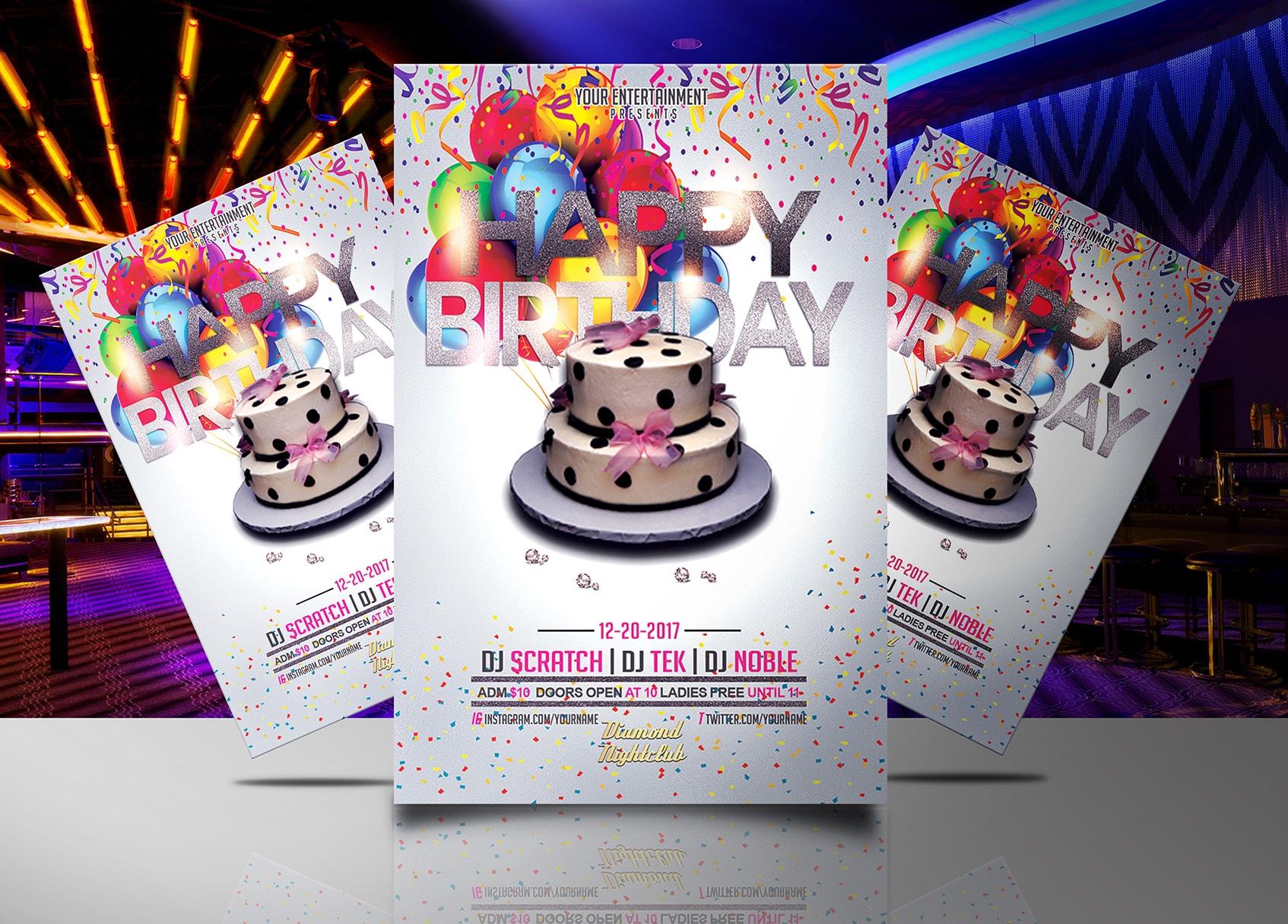 Happy Birthday Flyer Template Jaf Creative Studios