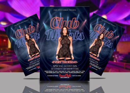 Thursday Club Nights Flyer Template
