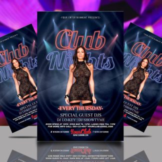 Thursday Club Nights Flyer Template