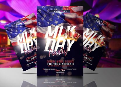 MLK Day Party Flyer Template