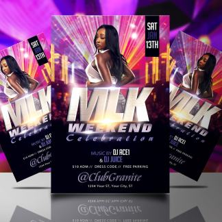 MLK Weekend Celebration Flyer Template