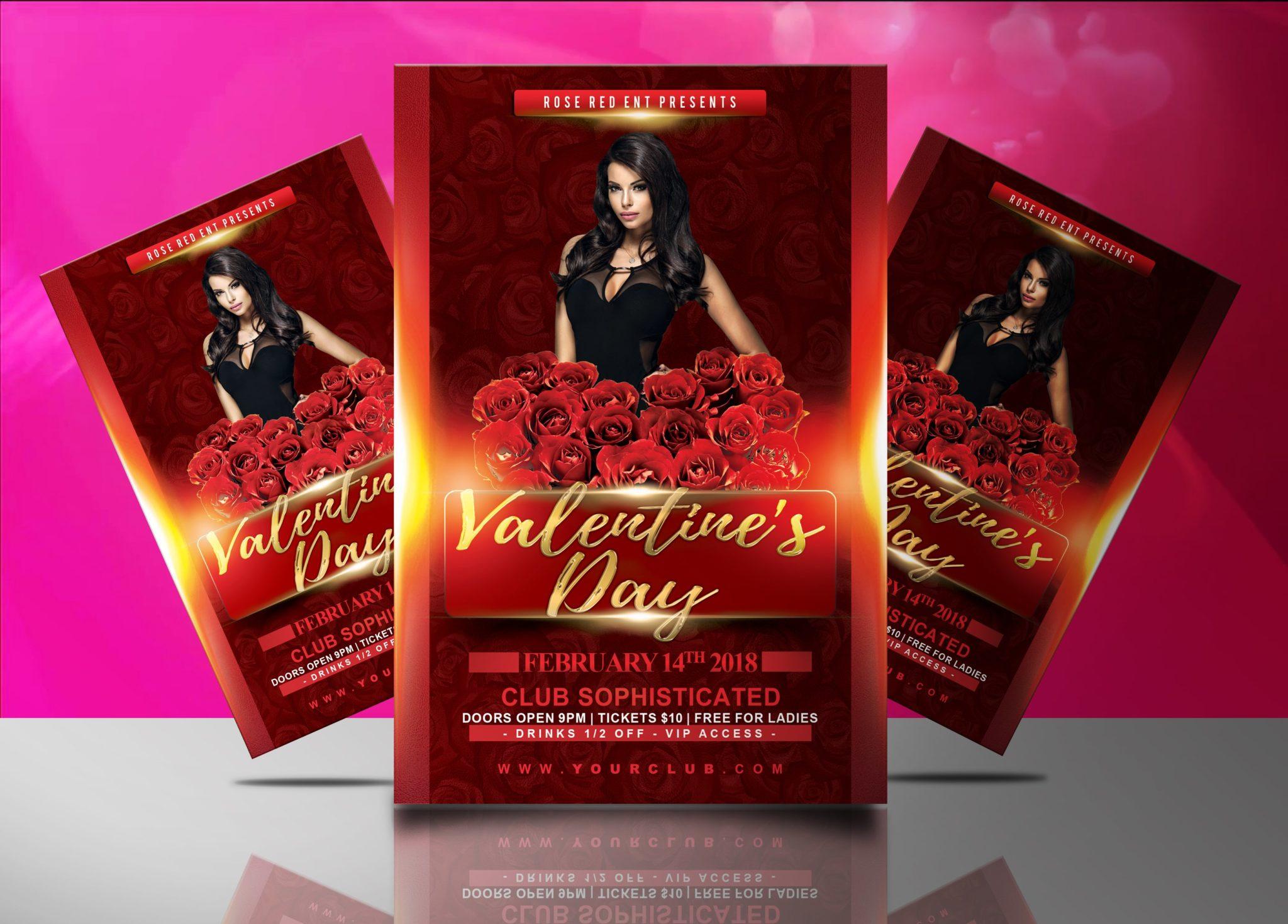 Valentine S Day Flyer Template Jaf Creative Studios