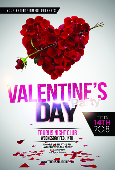 Valentine S Day Party Flyer Template Jaf Creative Studios