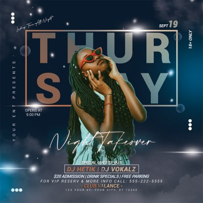 Thursday Night Takeover Flyer Template