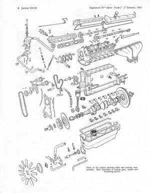 'Motor Trader' Service Data (1960) for the XK150Also the
