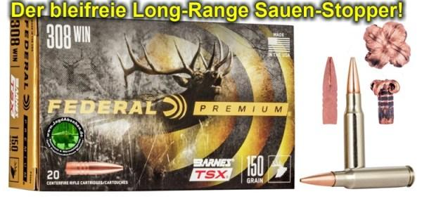 Federal Premium Copper TSX 308 150Gr bei Jagdabsehen