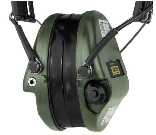 Gehörschutz Sordin PRO-X mit Gelkissen und LED bei Jagdabsehen 3