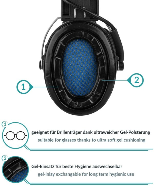 Gehörschutz Sordin PRO-X mit Gelkissen bei Jagdabsehen Innenseite