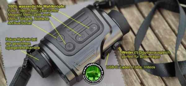 Jagdabsehen KanzelSet Wärmebildhandgerät Infiray Laser Finder 25R mit 600m Laser-Entfernungsmesser mit Kanzelmontage