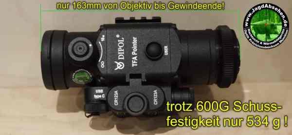 Jagdabsehen Spezial Edition TFA Pointer Jagdpaket Maße und Gewicht