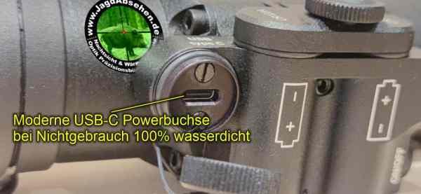 Jagdabsehen Spezial Edition TFA Pointer Jagdpaket mit offener USB-C-Powerbuchse