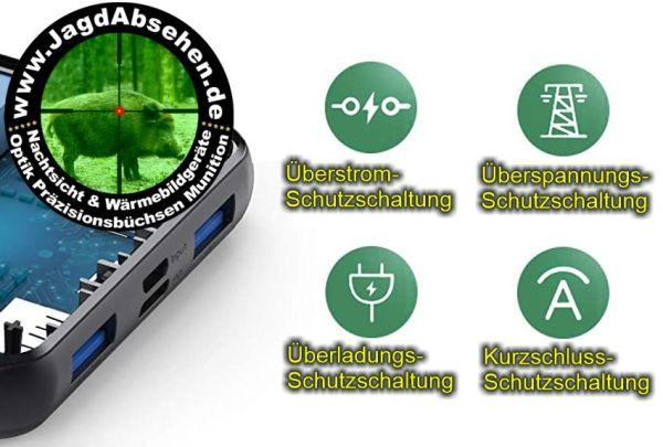 Lademonster V2.0 26Ah Vorteile bei Jagdabsehen